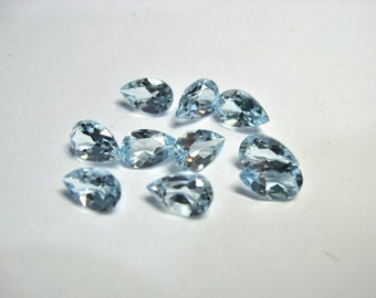 Sky Blue Topaz 8x5 pear shapes..10 piece per lot