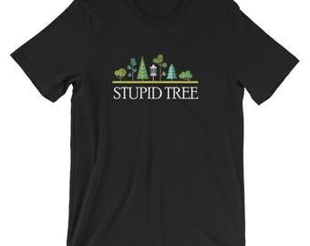 Unisex - Stupid Tree Disc Golf T-Shirt   Frolf Frisbee Golf Tee   Flying Discs Frolf Tee Shirts