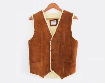 Suede and Shearling Vintage Vest