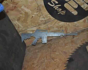 AR15 AK-47 Plasma-cut Metal Silhouettes