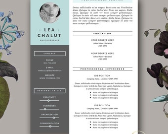 Page Resume Template CV Template Cover Letter For MS - Stylish resume templates free