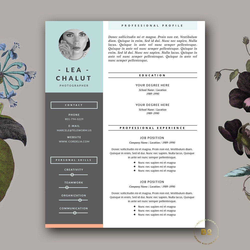Resume Template Creative Resume Design Cover Letter For Ms