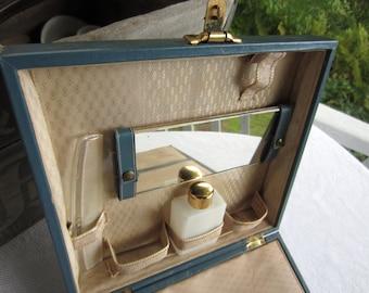 Vintage Vanity Case Toiletry Suitcase Travel Case