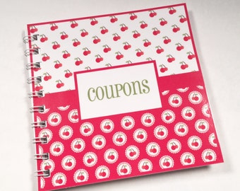 Small Coupon Organizer red green cherries