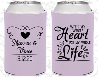 Light Purple Wedding, Light Purple Can Coolers, Light Purple Wedding Favors, Light Purple Wedding Gift, Light Purple Party Favors (387)