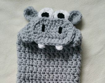 Cocoon, Hooded, Hippo, Newborn, Halloween Costume, Photography Prop