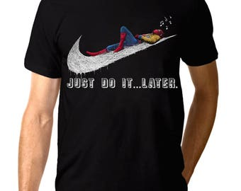 Spider-Man 'Just Do It Later' T-shirt, Men's Women's All Sizes