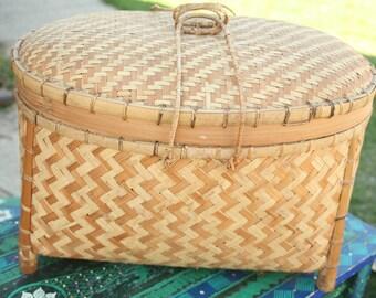 Vintage, Chinese, Basket