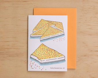 Fairy Bread - Foods of Australia Series Letterpress Card