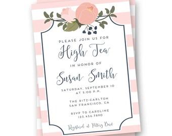 High Tea Invitation, Tea Party Invitation, Bridal Tea Party Invitation