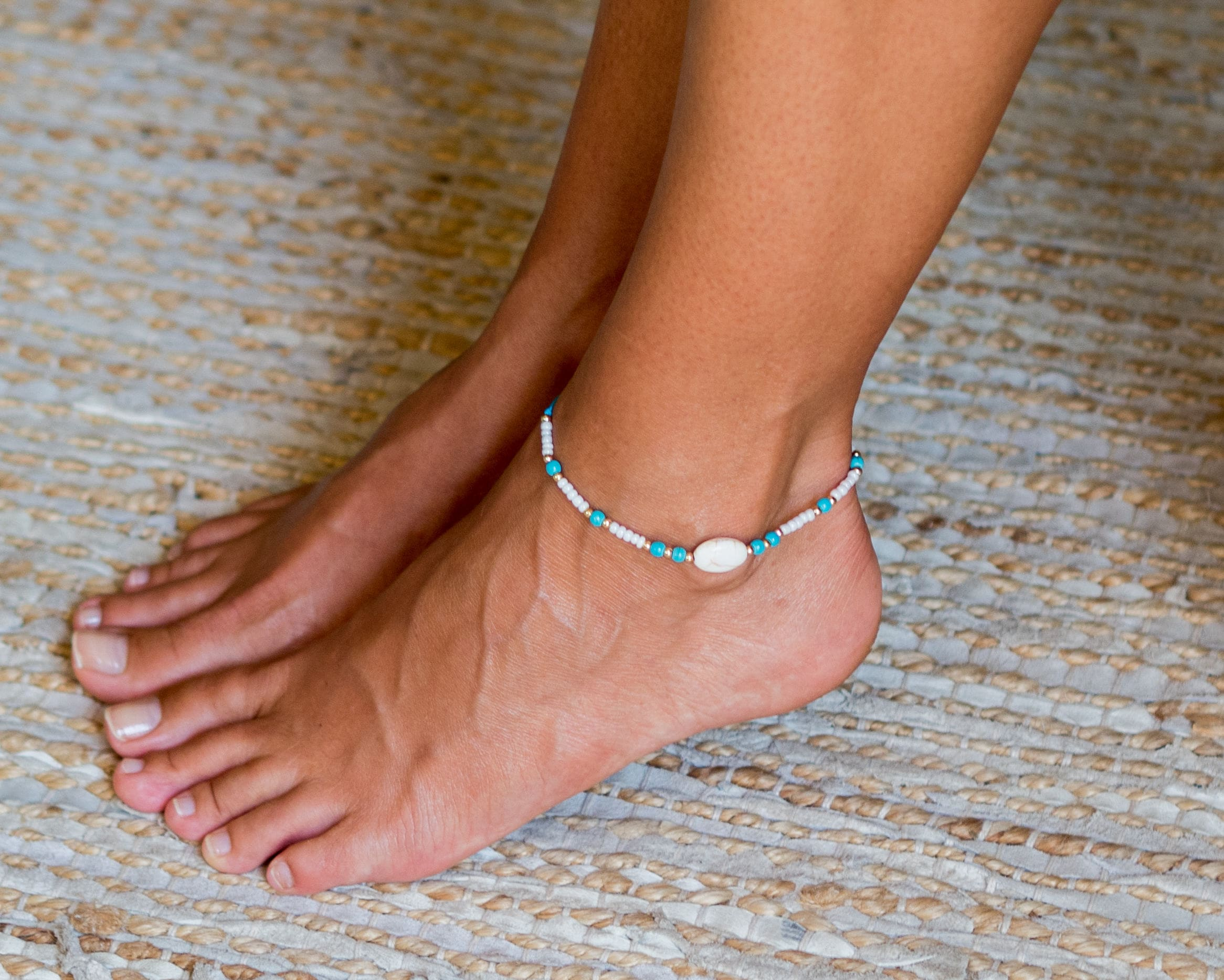woman handmade in sandals anklet silver barefoot products foot scarlet