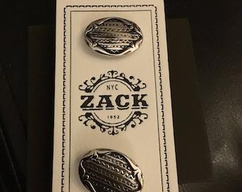 Zack Oval Silver Tone Cufflinks
