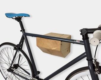 Bike Rack - Bike Wall Mount / Handmade Cute Wooden Storage / Bicycle Storage - Minimalist Bike Storage Organizer