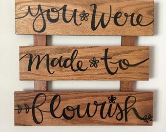 flourish [wood, acrylic]