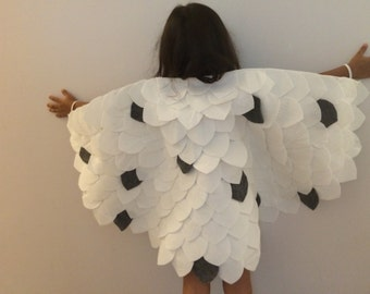 White snow owl, hedwig inspired costume, owl costume , dress up