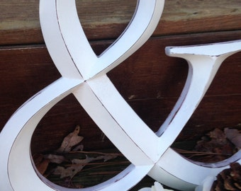 Wall Decor / Large Letter / Shabby Chic Wall Decor / Ampersand - Pick your CoLOr and PIcK YOuR LeTTeR