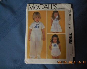 McCall's pattern jumper or summer dress with embrodery on front.