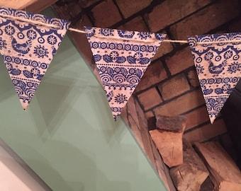 Handmade wooden bunting