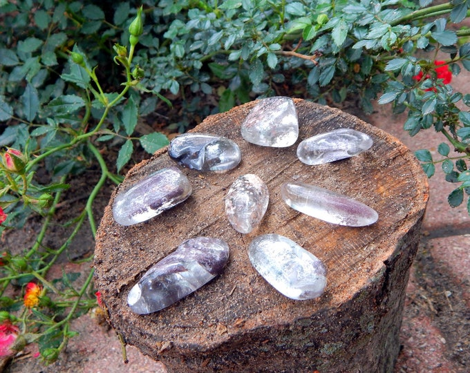 MEDIUM Scenic Quartz LODOLITE natural gemstone garden quartz with chlorite - Reiki Wicca Pagan Geology gemstone specimen