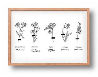 Herbarium | Floral Art | Poster | Wall Decor | Gallery Wall | Wall art
