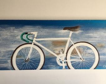 Bike, Painting, Acrylic