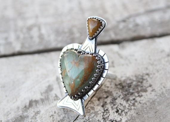 Mashan Turquoise Potion Bottle With Tigers Eye Topper Love Drunk Collection