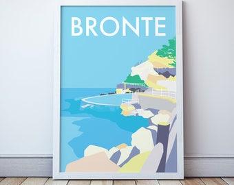 Bronte Vintage Style Seaside  Travel Print/ Poster
