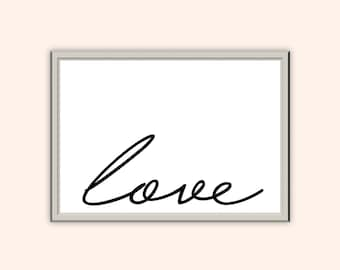 Love Print // A3 A4 A5 // Typography Print // Wall Art // Home Decor