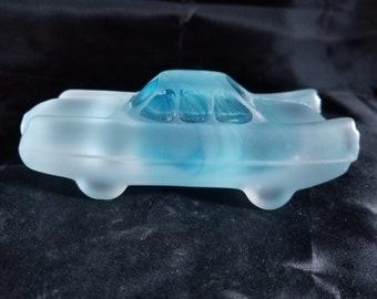 """KOSTA BODA Art Glass Car Sculpture Signed BROZEN 5"""""""