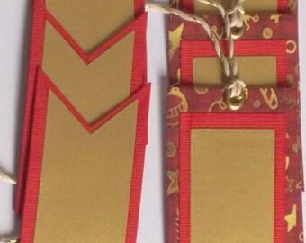 Christmas - Set of 6 gift tags