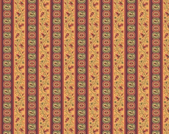 Andover Fabrics - Brown Stripe - Carlisle by Kathy Hall - Reproduction