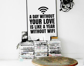 Love printable, love digital, love download, valentines printable, wall decor printable, boyfriend printable, valentines for him, funny love