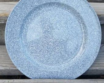 "Mikasa Ultrastone Chop plate or serving platter in the Grey CU726 pattern, 12"" Chop plate"