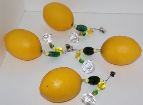 Lemon Tablecloth Weights Set Of 4