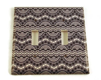 Double Light Switch Cover Wall Decor Switchplate Switch Plate in  Corset  (223D)