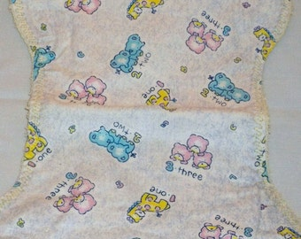 One, Two, Three with Yellow Burp Cloth Set