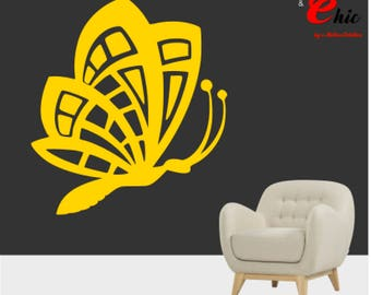 Decal sticker Butterfly design 2 to customize