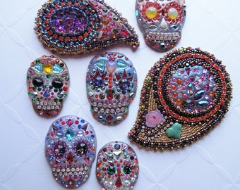 Epoxy clay Sugar Skulls and Paisley kits