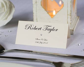 Personalised Wedding Place Name Cards Pack 10