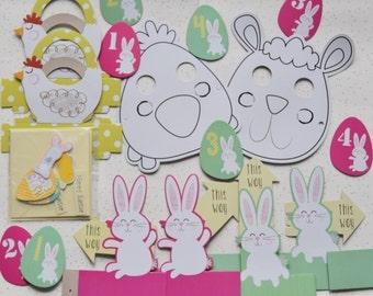 Children easter etsy easter egg hunt kit easter craft box for children easter craft kit kids negle Gallery