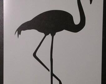 Pink Flamingo Custom Stencil FAST FREE SHIPPING