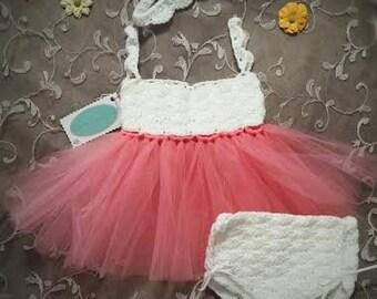 Newborn Shell Tutu Dress Set