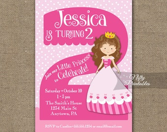 Two year old invites etsy 2nd birthday invitations princess birthday invitation printable girls 2nd birthday party two year filmwisefo