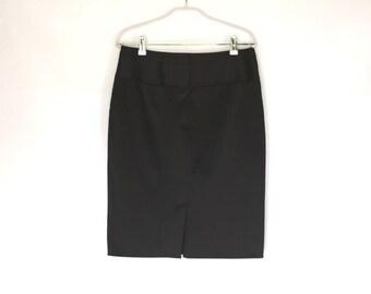 Black Pencil Skirt /Under Knee Tight Skirt / Fashion Skirt / Casual Skirt /Strong Pencil Skirt / Size Medium