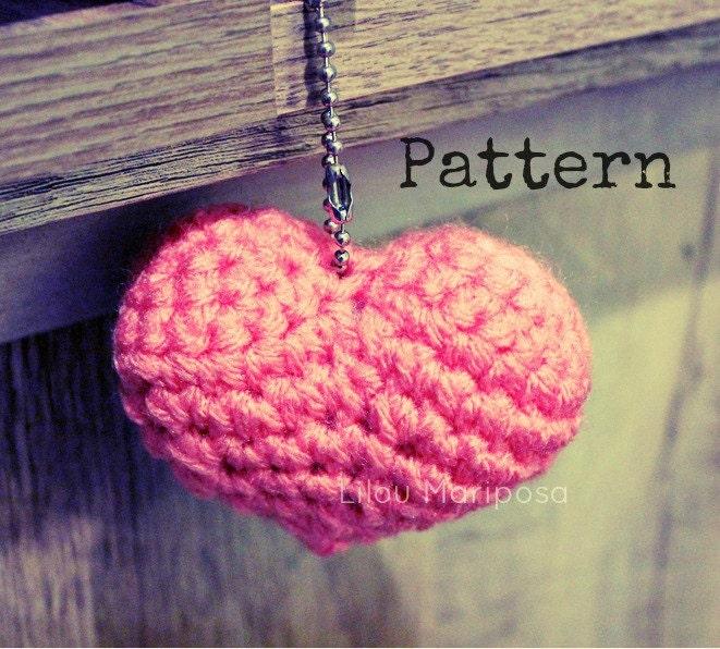 Patron pdf crochet Corazon a crochet amigurumi Amigurumi