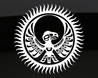 Native American Raven Decal