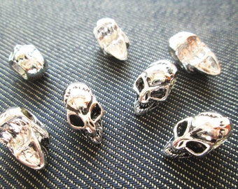 6 pcs Skull Silver Ghost Voodoo Charm CT - 0185