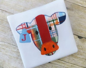 Cow Shirt for Boys with Initial or Name