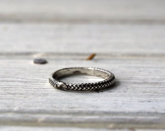 Sterling Silver Ring, Dorian Ring, Stackable, Engagement Ring, Promise Ring, Wedding Ring, Dainty Ring Gold, Wife Birthday Gift, Peg and Awl