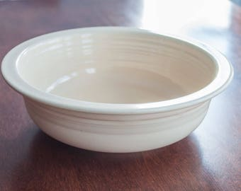 Vintage Homer Laughlin Fiestaware ivory nappy, made in california